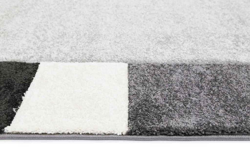 Essence Grey Simple Boarder Rug