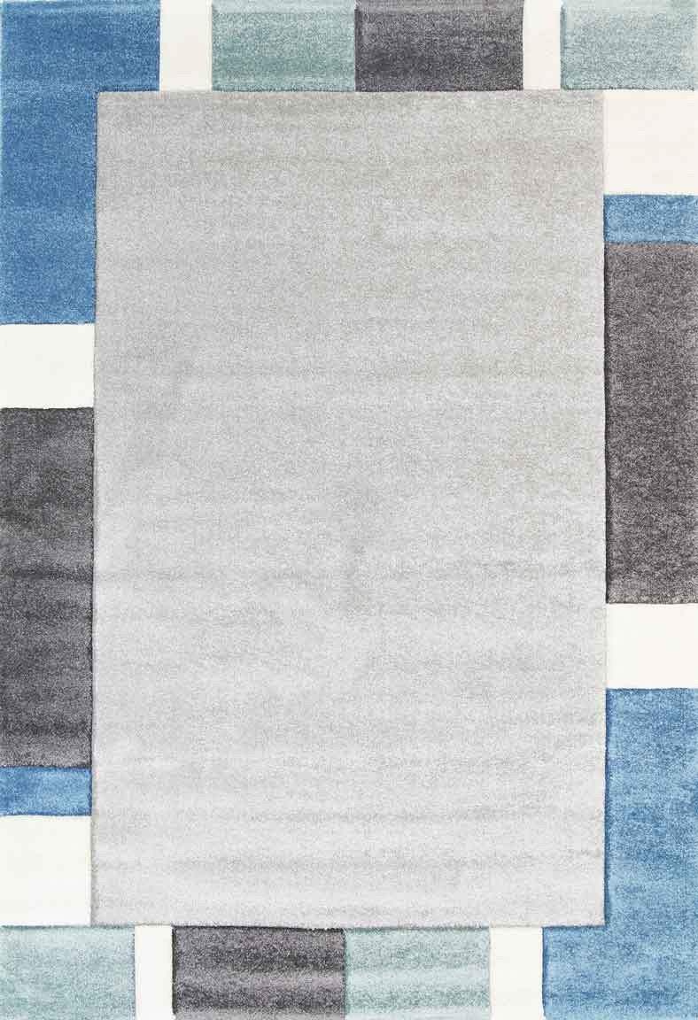 Essence Blue Simple Boarder Rug