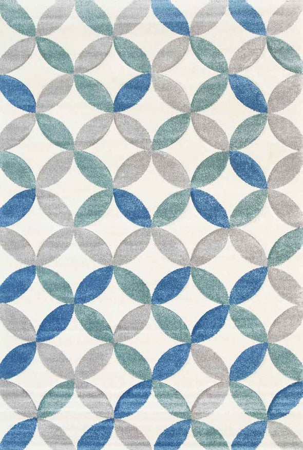 Essence Blue Trellis Rug