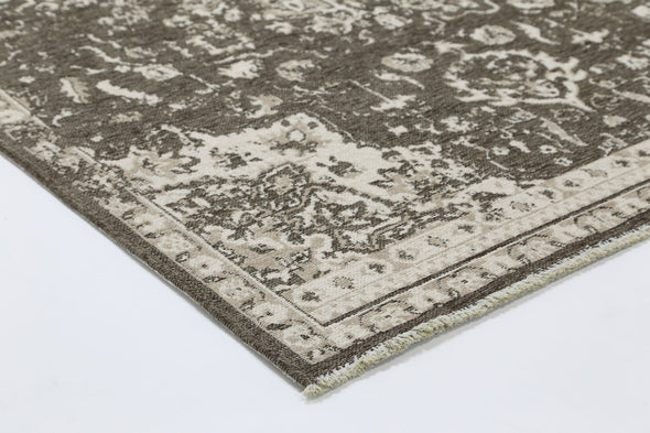 Rusty Vintage Motif, Amazing 2 in 1 Reversible Rug Beige