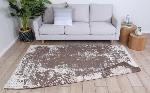 Rusty Vintage Abstract Amazing 2 in 1 Reversible Rug Beige