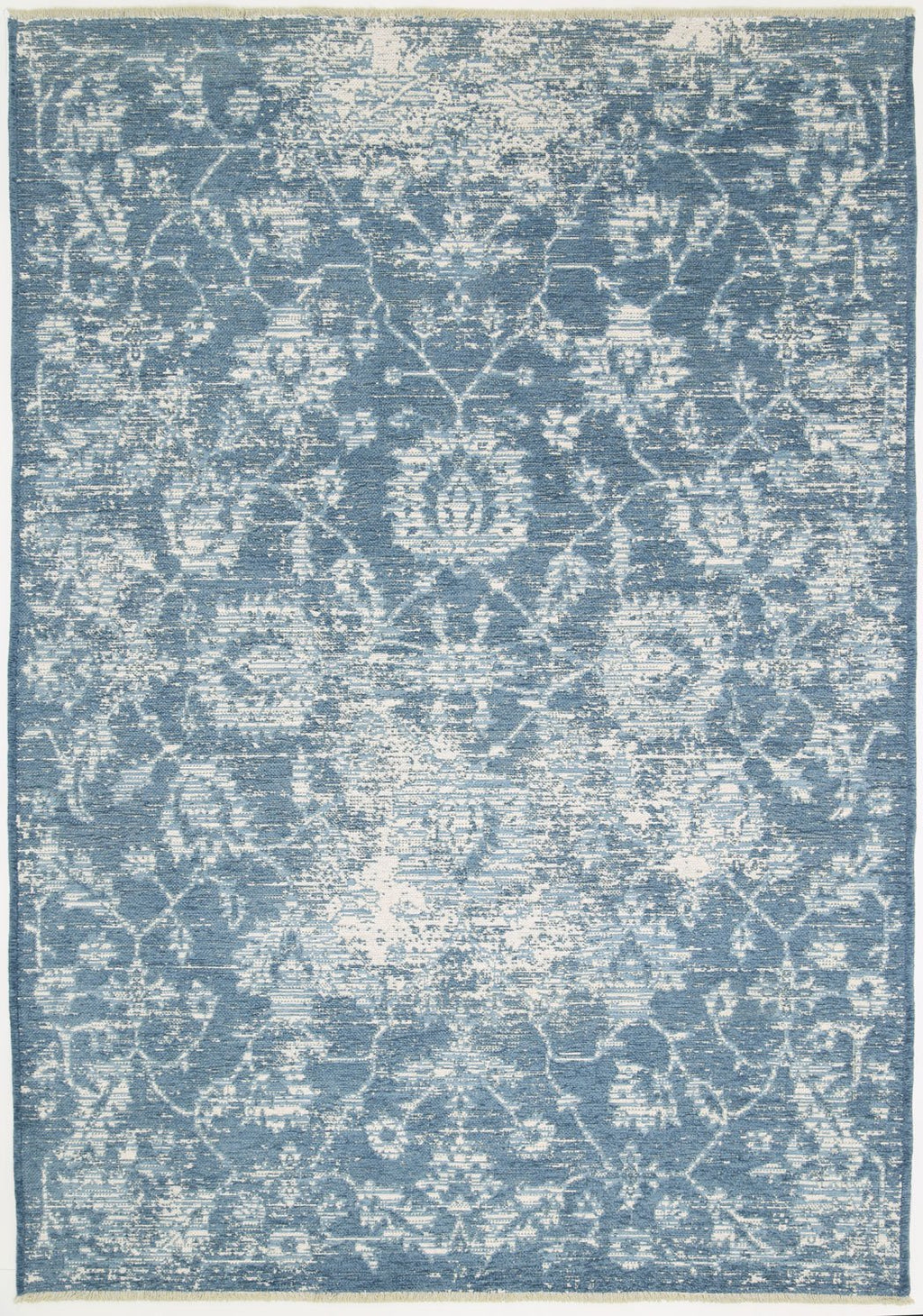 Rusty Vintage Classic, Amazing 2 in 1 Reversible Rug Blue