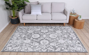 Rusty Vintage Classic, Amazing 2 in 1 Reversible Rug Grey
