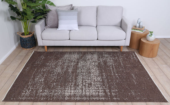 Rusty Vintage Distressed, Amazing 2 in 1 Reversible Rug Beige