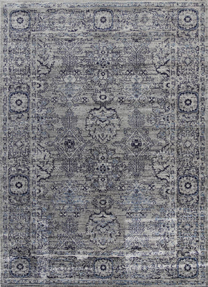 Arya Light Grey Ziegler Traditional Ikat Rug