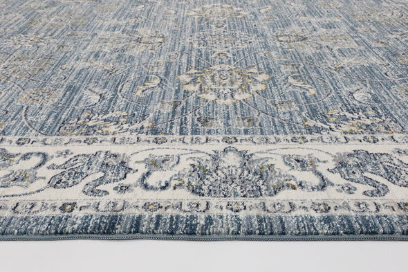 Atlas Vintage Blue Boarder Rug