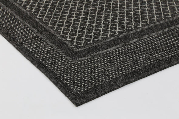 Jersey Hedy Black Light Grey indoor / Outdoor Rug