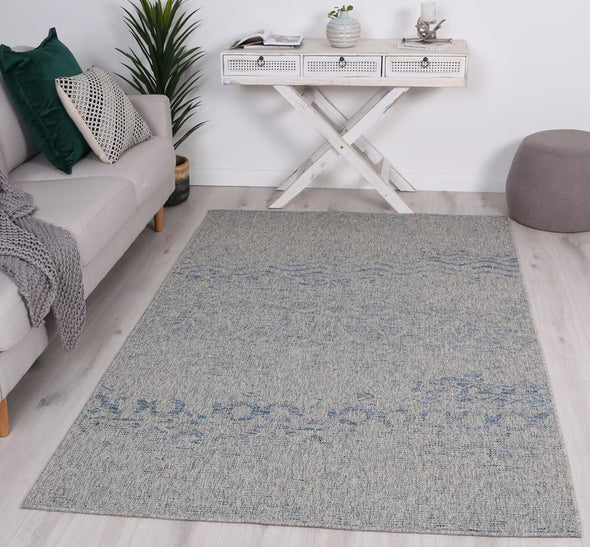 Jersey Lita Light Grey Blue indoor / Outdoor Rug
