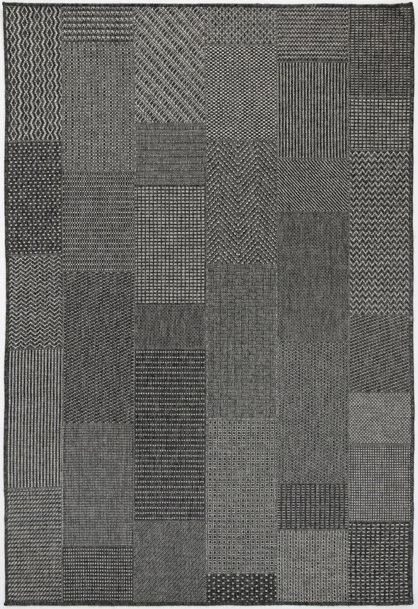 Jersey Verdell Black Light Grey indoor / Outdoor Rug