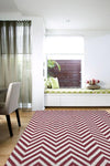 Abode Chevron Design Red Rug