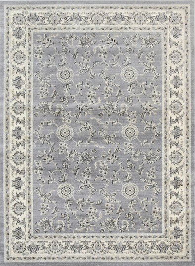 Sansa Grey Cream Border Rug