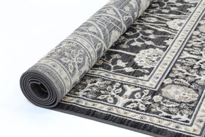 Arya Grey Ziegler Traditional Rug