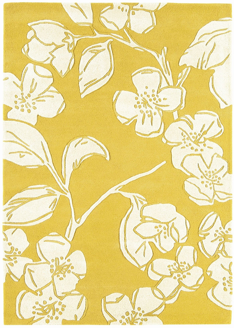 Asiatic Devore Yellow Rug