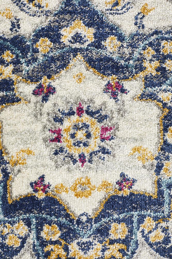 Babylon 201 Blue Runner Rug