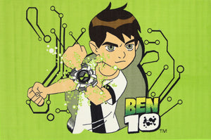 Non Slip Green Kids Cartoon Network Ben 10 Area Rug Baby Play Mat