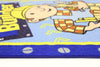 Non Slip Blue ABC Kids Bob the Builder Working Area Rug Baby Play Mat