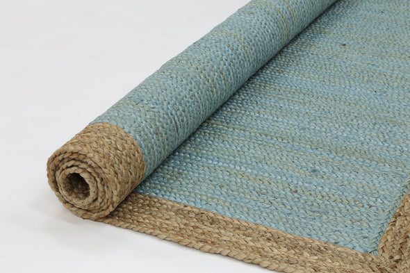 Hampton Blue Centre Jute Rug