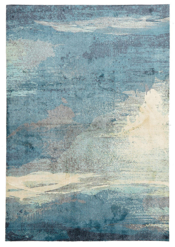 City Monet Stunning Blue Rug