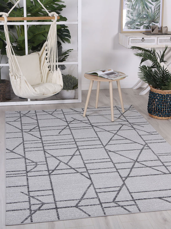 Courtyard Copenhagen Indoor/Outdoor Grey Rug