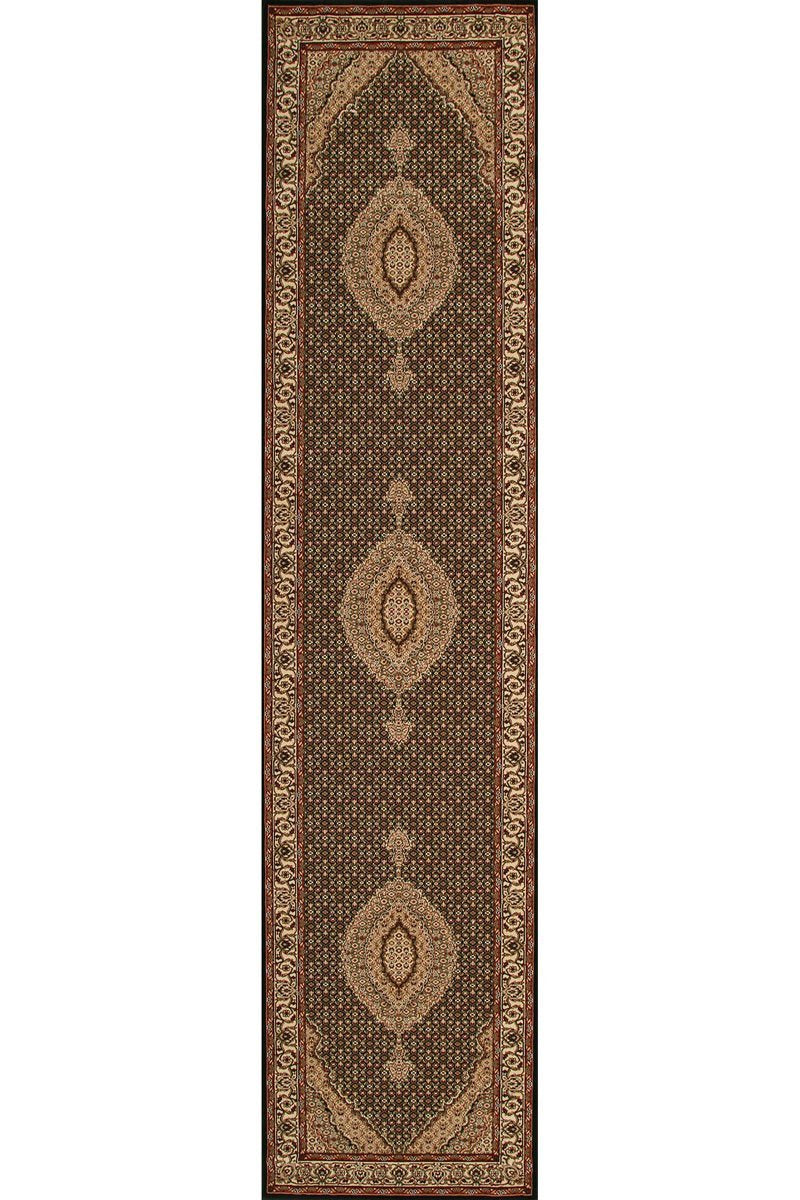 Empire Stunning Formal Oriental Design Runner Rug Black