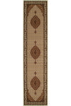 Empire Stunning Formal Oriental Design Runner Rug Cream
