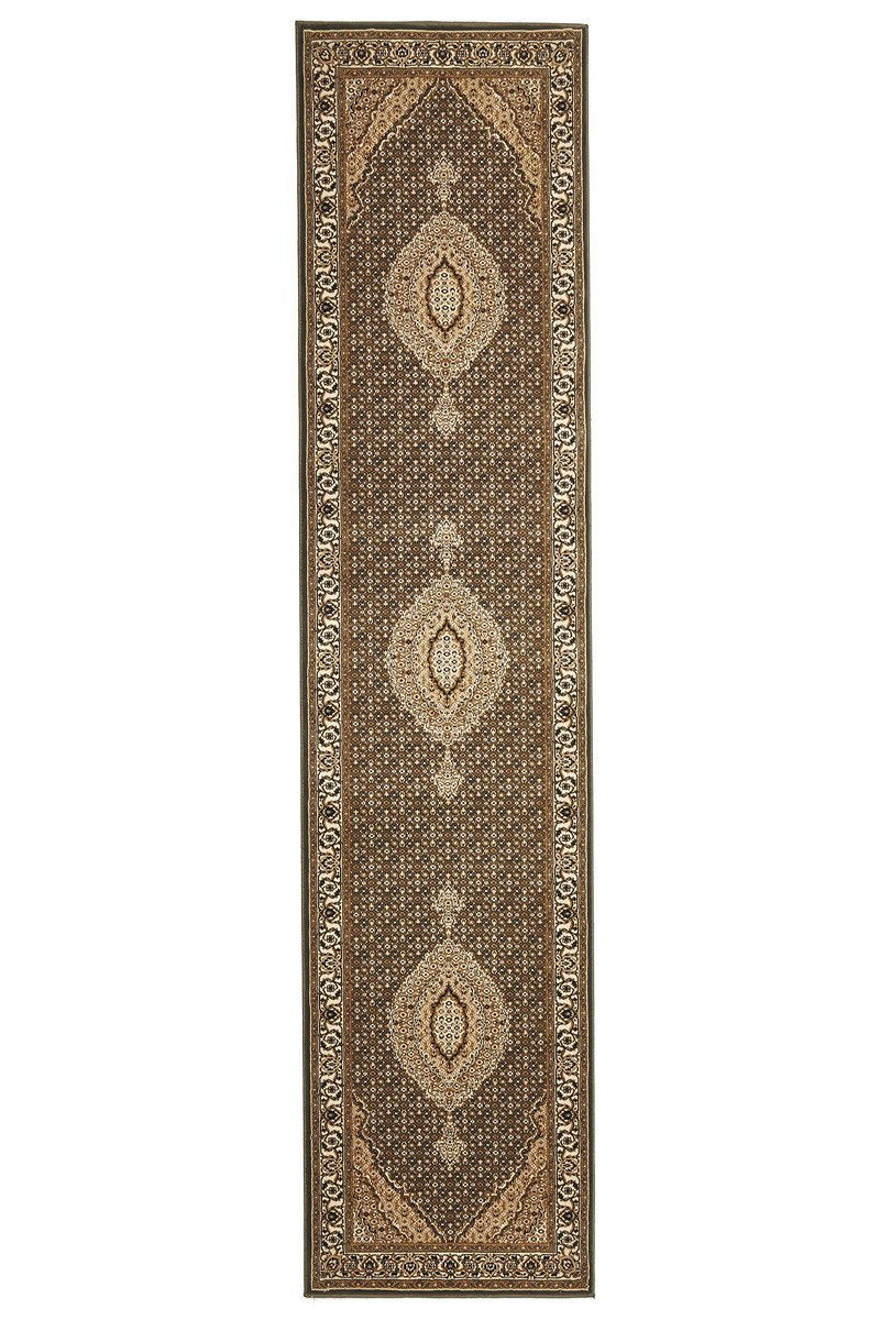 Empire Stunning Formal Oriental Design Runner Rug Green