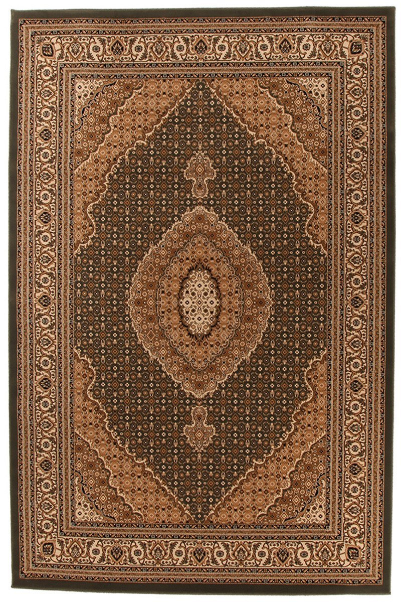 Empire Collection Stunning Formal Oriental Design Green Rug