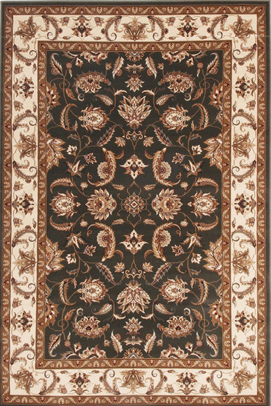 Empire Collection Stunning Formal Floral Design Green Rug