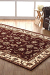 Empire Collection Stunning Formal Floral Design Red Rug