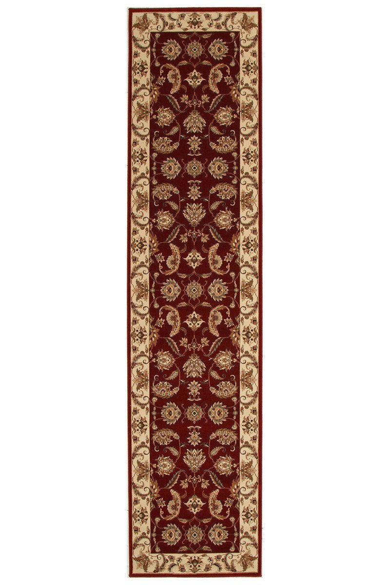 Empire Stunning Formal Floral Design Runner Rug Red