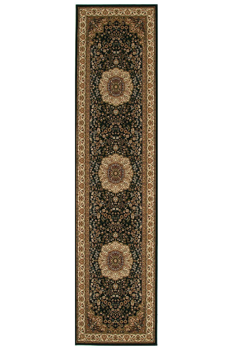 Empire Stunning Formal Medallion Design Runner Rug Black