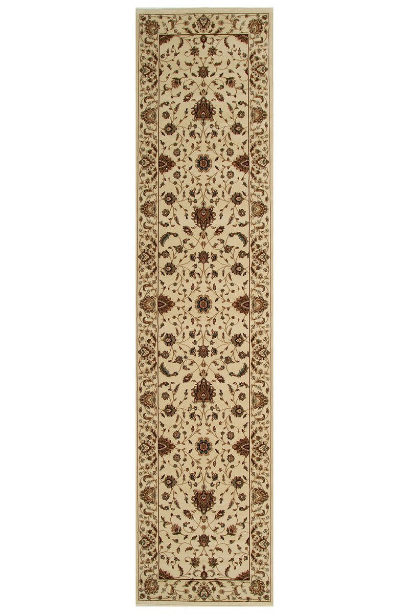 Empire Stunning Formal Classic Design Runner Rug Cream