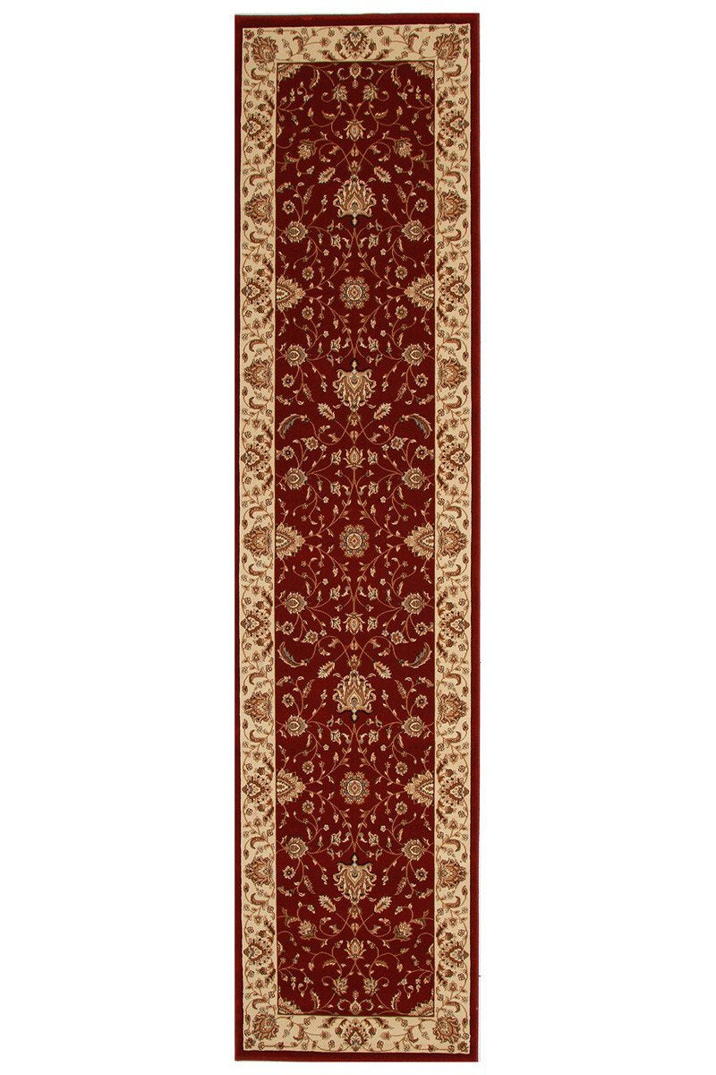 Empire Stunning Formal Classic Design Runner Rug Red