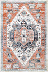 Fortune Traditional Terracotta White Rug