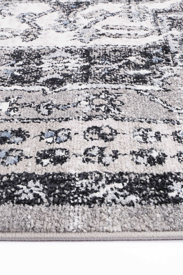 Fortune Traditional Light Grey Rug
