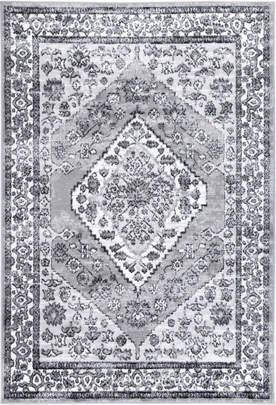 Fortune Traditional Grey Black Rug
