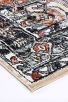 Fortune Traditional Black Cream Rug