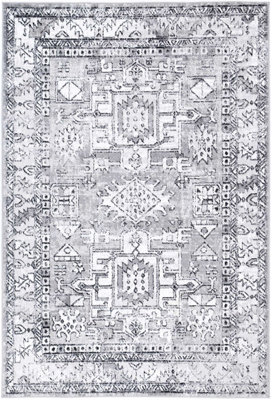 Fortune Traditional Grey Rug
