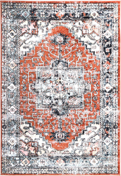 Fortune Traditional Terracotta Rug