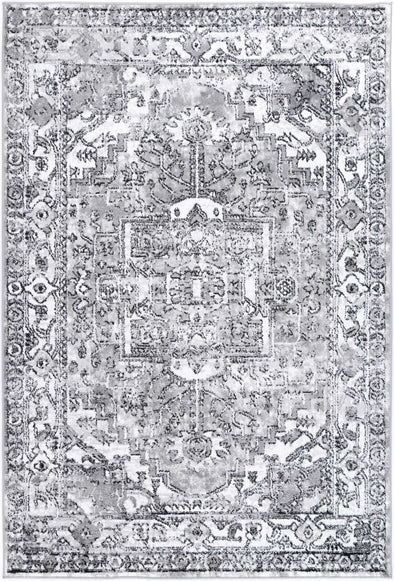 Fortune Traditional Black Grey Rug