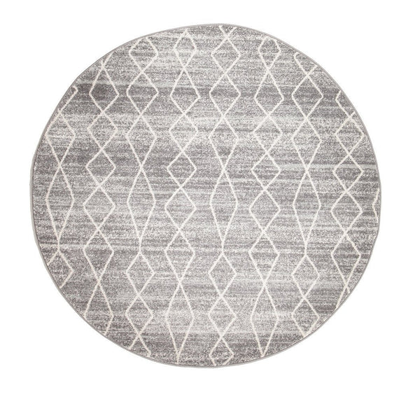 Evoke Remy Silver Transitional Round Rug