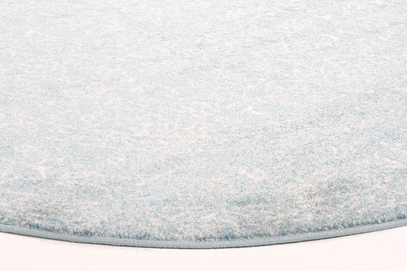 Evoke Depth Blue Transitional Round Rug