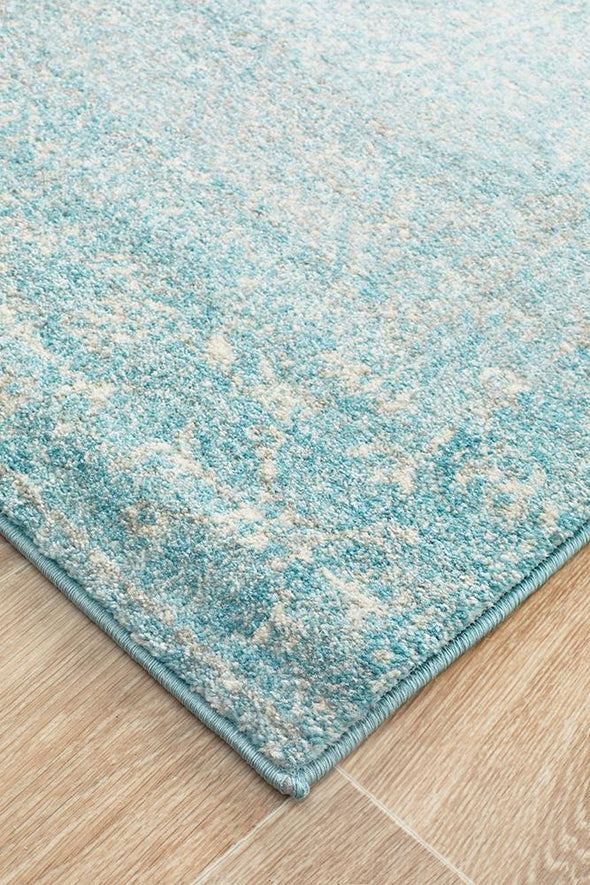 Evoke Depth Blue Transitional Runner Rug