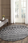 Evoke Simplicity Black Transitional Round Rug