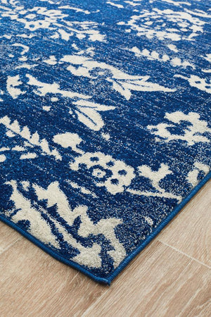 Evoke Donna Navy Transitional Rug
