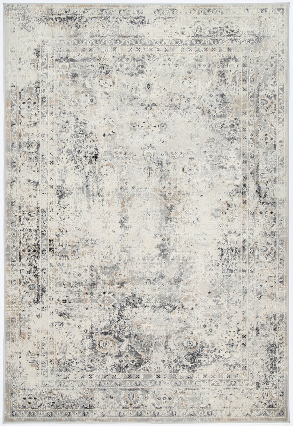 Santana Beige Grey Contemporary Rug