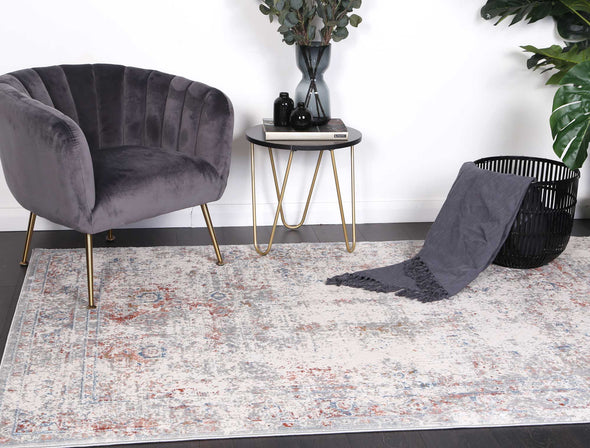 Santana Multi Grey Contemporary Rug