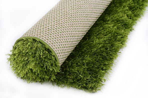 FLASH SHAGGY GREEN RUG