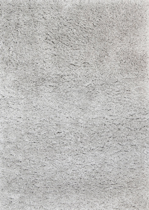 Cushy Super Soft Ultra Thick Shag Rug Silver