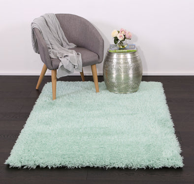 Cushy Super Soft Ultra Thick Shag Rug Light Blue